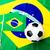 футбольным · мячом · Бразилия · флаг · серый · 3d · визуализации · Футбол - Сток-фото © leungchopan