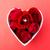 wzrosła · pierścionek · z · brylantem · wewnątrz · kształt · serca · puchar · czerwony - zdjęcia stock © leungchopan