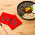 Chinese new year snack tray and chinese calligraphy, meaning for stock photo © leungchopan