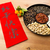 chinese new year snack tray and chinese calligraphy meaning for stock photo © leungchopan