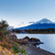 zonsopgang · Mount · Fuji · vallen · landschap · berg · Blauw - stockfoto © leungchopan
