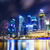 Singapore · nacht · water · gebouw · skyline · corporate - stockfoto © leungchopan