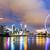 Singapore · nacht · skyline · jachthaven · water · stad - stockfoto © leungchopan
