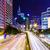 tráfego · Hong · Kong · noite · céu · edifício · cidade - foto stock © leungchopan