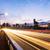 nacht · verkeer · berg · weg · roemeense · licht - stockfoto © leungchopan