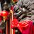 guardião · templo · blue · sky · Tailândia · cara · viajar - foto stock © leungchopan