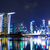 singapore city skyline at night stock photo © leungchopan