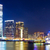 linha · do · horizonte · Hong · Kong · noite · negócio · escritório · edifício - foto stock © leungchopan
