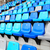 zitting · stadion · sport · Blauw · plastic · publiek - stockfoto © leungchopan