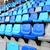 publiek · zitting · stadion · sport · Blauw · plastic - stockfoto © leungchopan