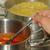 olla · espaguetis · salsa · de · tomate · cuchara · dieta - foto stock © lianem