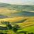 Toskana · tepeler · ev · ağaç · çim · doğa - stok fotoğraf © lianem