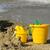 plaj · kürek · turuncu · plastik · maça · kumlu - stok fotoğraf © lianem