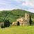 apátság · Toszkána · Olaszország · fű · erdő · tájkép - stock fotó © lianem