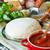pizza · domates · sosu · taze · lezzetli · ev · yapımı · hazırlık - stok fotoğraf © lidante