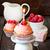 rosa · aniversário · bolo · suporte - foto stock © lidante