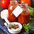 pasta · salsa · di · pomodoro · blu · foto · spaghetti - foto d'archivio © lidante