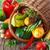 kosár · saláta · kert · farm · jelenet · étel - stock fotó © lidante