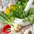 temperos · alho · fresco · salsa · folhas · cerâmico - foto stock © lidante