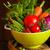fresche · maturo · pomodori · tavolo · in · legno · legno · verde - foto d'archivio © lidante