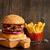 hamburger · krumpli · sültkrumpli · izolált · fehér - stock fotó © lidante
