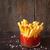 primer · plano · ternera · frito · patatas · vidrio · fondo - foto stock © lidante
