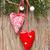 karácsony · dekoráció · fából · készült · szívek · textúra · szeretet - stock fotó © lidante