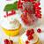 groselha · bolinho · branco · comida · fundo - foto stock © lidante