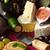 vinho · branco · queijo · uva · isolado · branco · folha - foto stock © lidante
