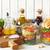 サラダドレッシング · 材料 · 新鮮な · ハーブ · リュウゼツラン · シロップ - ストックフォト © lidante