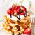 fresco · caseiro · Bruxelas · waffle · café · da · manhã - foto stock © lidante