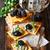 azul · uvas · madera · bordo · calidad - foto stock © lidante