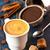 koffiebonen · suiker · specerijen · top · ruimte - stockfoto © lidante