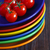 csoport · koktélparadicsom · kék · tál · zuhan · barna - stock fotó © lidante