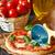 pizza · mozzarella · fetta · tavolo · in · legno · pomodoro - foto d'archivio © lidante