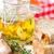 fraîches · verre · jar · blanche · bois · rustique - photo stock © lidante