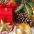 dourado · natal · neve · decoração · fita - foto stock © lidante