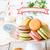 pembe · macarons · süt · renkli · fincan · aşırı - stok fotoğraf © lidante