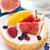 friss · bogyós · gyümölcs · torta · krém · sütemény · közelkép - stock fotó © lidante