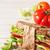 サンドイッチ · 野菜 · ファストフード · 食品 · 背景 · クラブ - ストックフォト © lidante