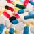 színes · kapszulák · makró · piros · homály · orvosi - stock fotó © lightfieldstudios