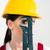vrouwelijke · bouwvakker · buizen · pijp · sleutel - stockfoto © lightfieldstudios
