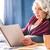 senior · vrouw · lezing · boek · tuin · telefoon - stockfoto © lightfieldstudios