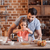apa · lánygyermek · desszert · család · férfi · konyha - stock fotó © lightfieldstudios