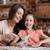 feliz · mãe · filha · farinha · cozinha - foto stock © lightfieldstudios