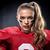 mujer · futbolista · mujer · hermosa · sexy · deportes · campo - foto stock © lightfieldstudios