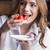 женщину · еды · клубника · фото · красивая · женщина - Сток-фото © lightfieldstudios