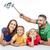 vader · zoon · man · kind · home · mobiele · telefoon - stockfoto © lightfieldstudios
