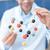 uśmiechnięty · naukowiec · molekularny · model · laboratorium - zdjęcia stock © lightfieldstudios
