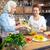 anne · kız · pişirme · birlikte · anne · sebze - stok fotoğraf © lightfieldstudios